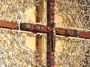 Altarrückwand Detail